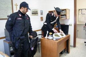 Il cane Sembo e la droga sequestrata