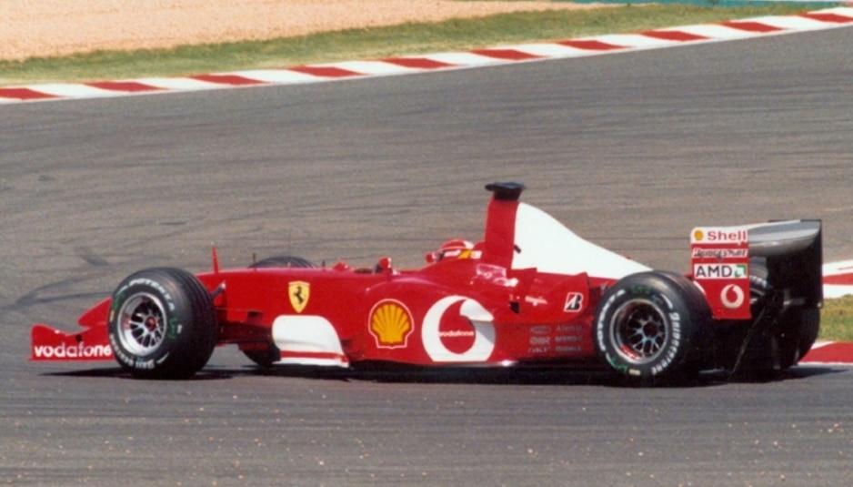 Schumacher guida la F2002 nel GP di Francia