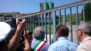 Il sindaco entra nell'impianto Sorical