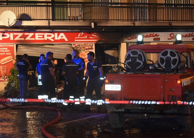 Esplosione Pizzeria La Stangata Crotone